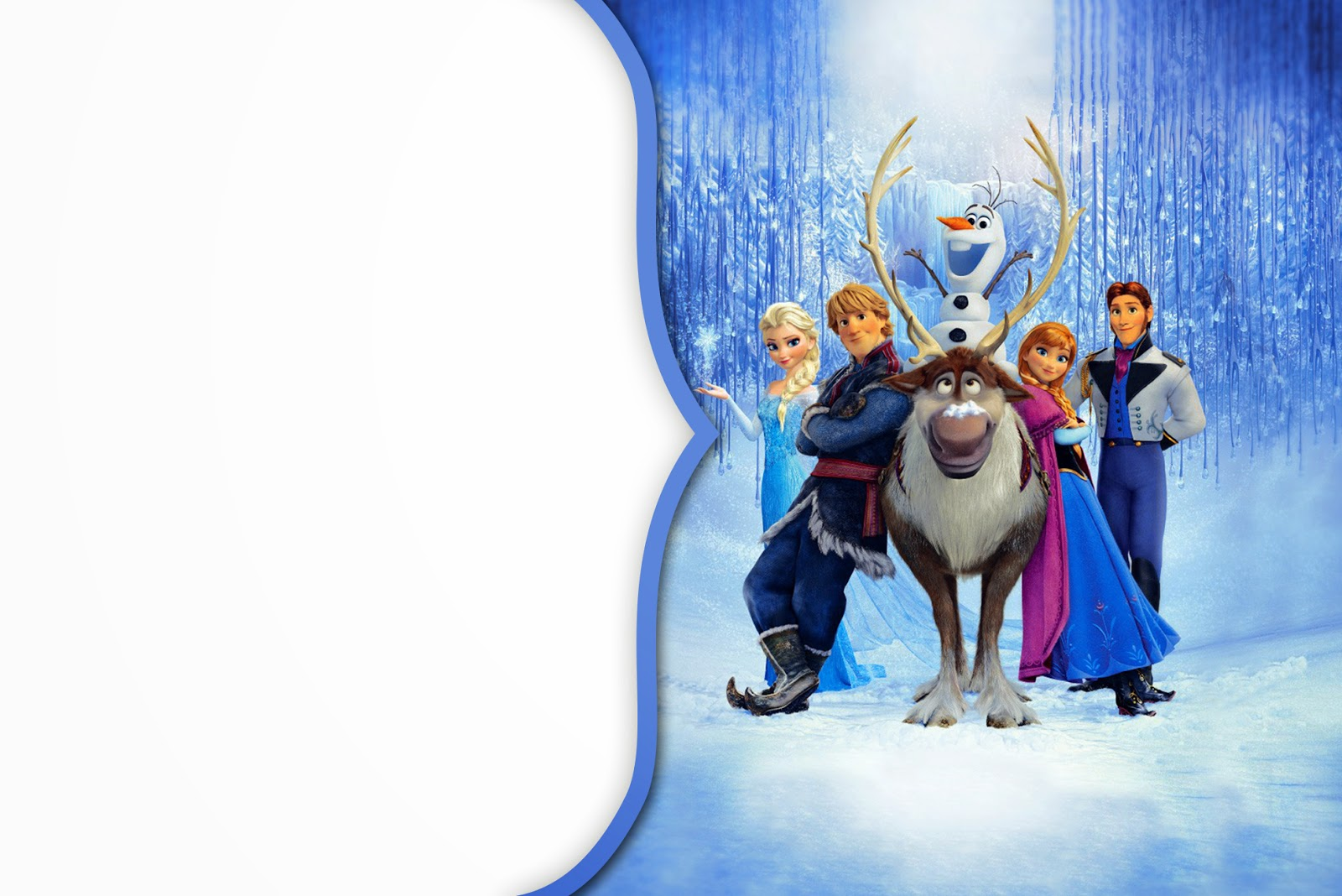 Super Inviti Frozen da stampare gratis QF46