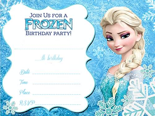 Preferenza Inviti Frozen da stampare gratis JV59