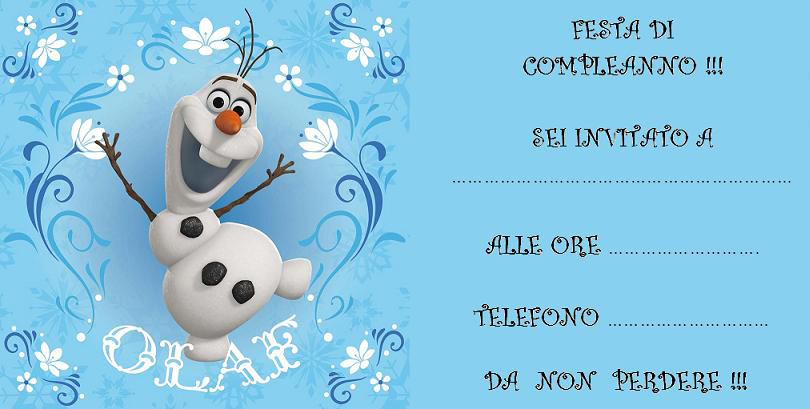 Amato compleanno-frozen-stampare-olaf YJ18